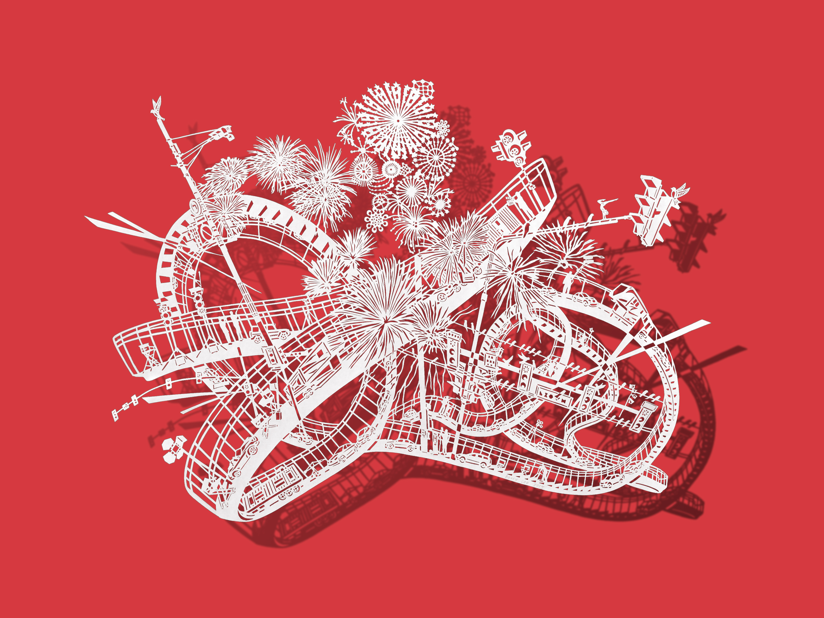 Go On A Rollercoaster Ride With Paper Cutout Art Creators - Incredible intricately cut paper designs bovey lee