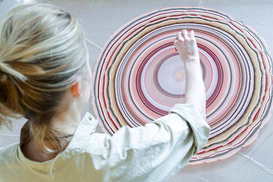 These Painstakingly Hand-Marbled Wooden Designs Swirl with Color