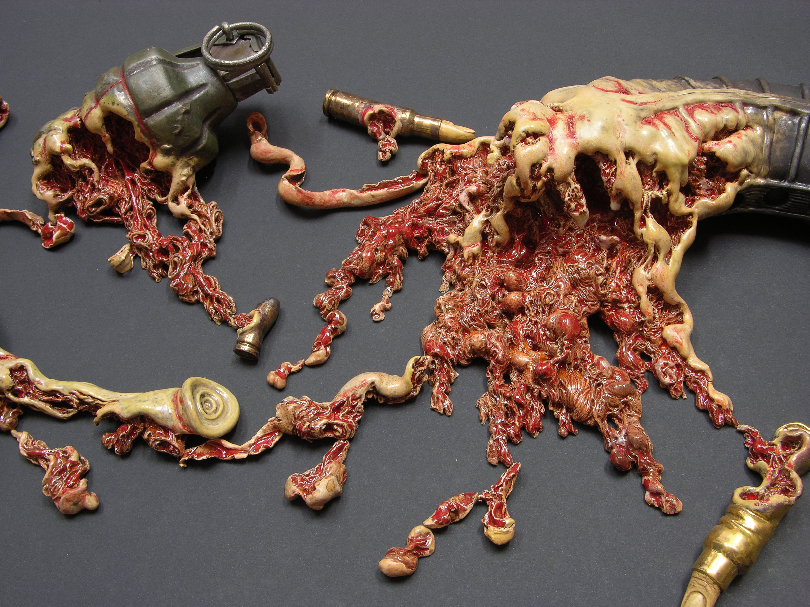 Guns And Gore Merge In Bloody Ceramic Sculptures Vice