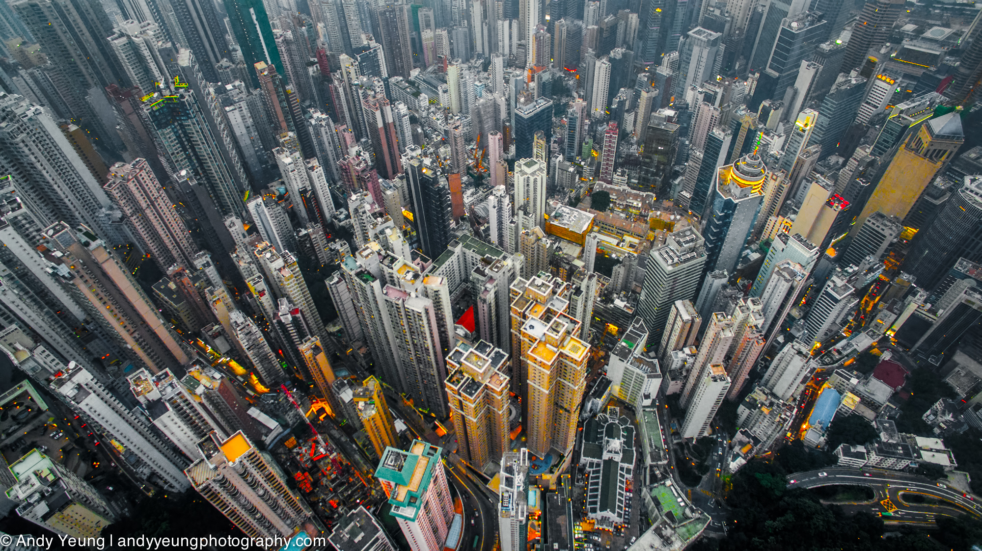 Colorful Drone Photos Take You Soaring Over Hong Kong