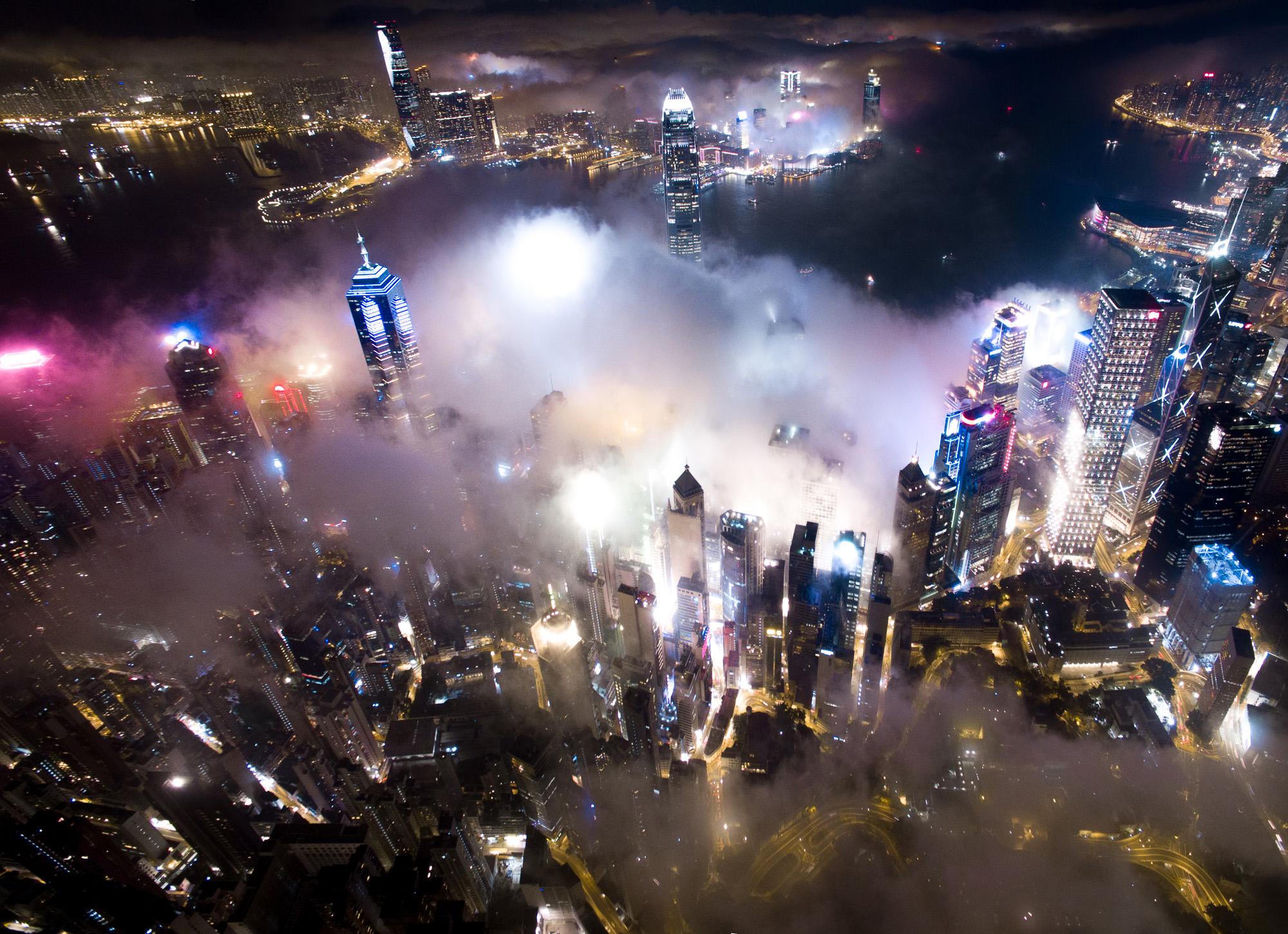 Colorful Drone Photos Take You Soaring Over Hong Kong Creators - Incredible drone footage captures hong kong